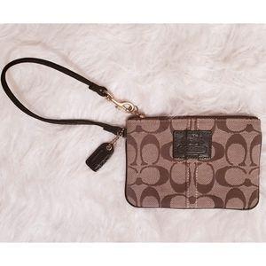 Coach Monogram Wristlet Bag